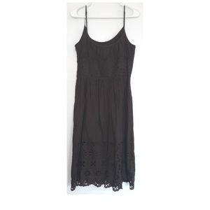 Loft Brown sleeveless eyelet dress